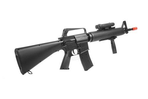 Well  2 wellfire m16a3 Spring Airsoft Rifle - w/Vertical Grip & Flashlight Unit m16(Airsoft Gun)