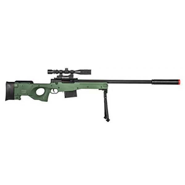 Lancer Tactical Airsoft Rifle 5 300 FPS - Airsoft Sniper Spring Rifle Gun with Scope and Laser