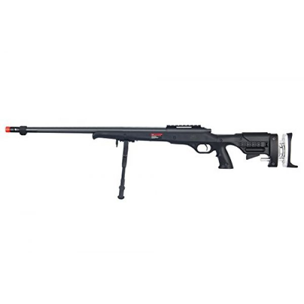 Well Airsoft Rifle 1 Well MB12BBIP VSR Spring Sniper Airsoft Rifle w/Bipod (Black)