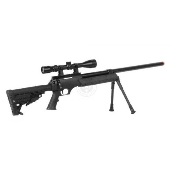 BBTac Airsoft Rifle 5 Wellfire aps sr-2 modular airsoft sniper rifle - scope & bipod - black(Airsoft Gun)
