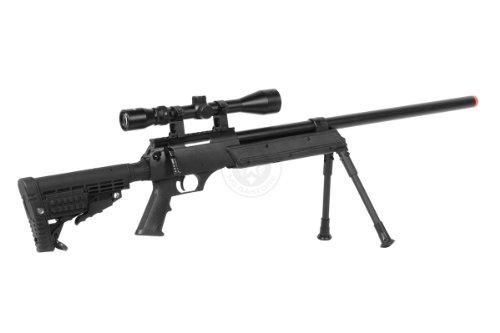 BBTac  5 Wellfire aps sr-2 modular airsoft sniper rifle - scope & bipod - black(Airsoft Gun)