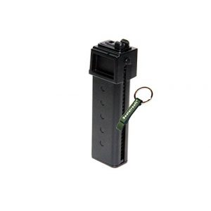 KJW Air Gun Magazine 1 KJ Works 30rds Airsoft Metal 6mm Gas Magazine for KC-02 .22 GBB Black -Mobile Ring Included