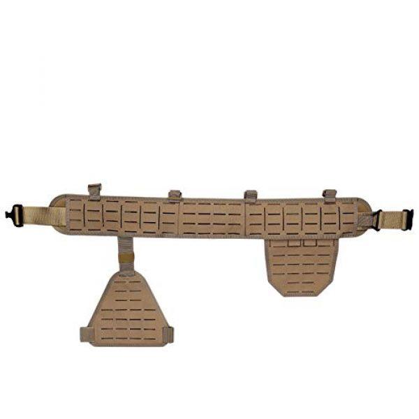 DETECH Airsoft Tactical Vest 5 DETECH Molle Padded Modular Belt Sleeve Tactical Inner Belt Drop Leg Platform Panel, Hip Panel Laser Cutting PALS Combo