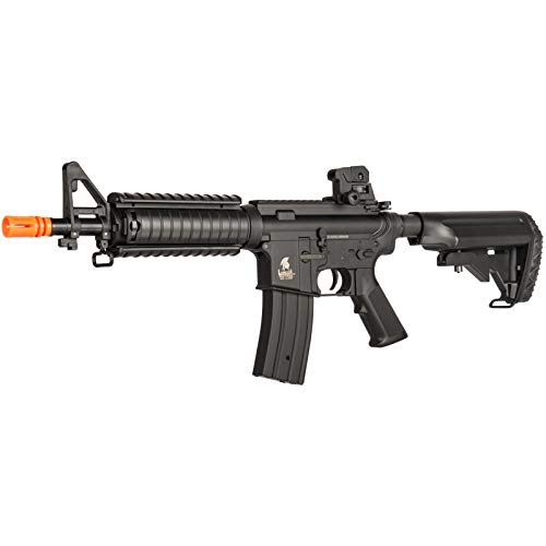 Lancer Tactical  3 Lancer Tactical Airsoft M4 AEG Rifle with Crane Stock Black