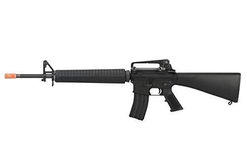 Lancer Tactical  1 Lancer Tactical WE M16A3 Open Bolt Full Metal Gas Blowback Airsoft GBBR Rifle Black