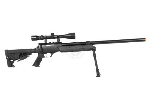 BBTac  4 Wellfire aps sr-2 modular airsoft sniper rifle - scope & bipod - black(Airsoft Gun)