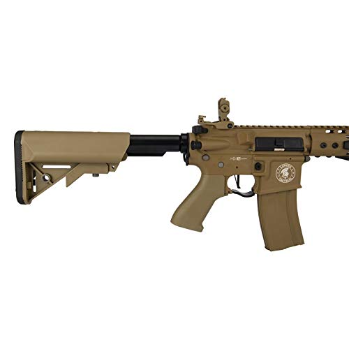 "Lancer Tactical  5 Lancer Tactical Proline 9"" KeyMod with Picatinny Carbine AEG Airsoft Rifle Tan 395 FPS"