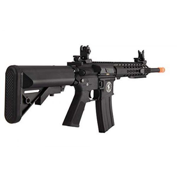 "Lancer Tactical Airsoft Rifle 3 Lancer Tactical LT-19BL-G2-M Gen 2 Airsoft M4 Carbine 10"" AEG Rifle Black"