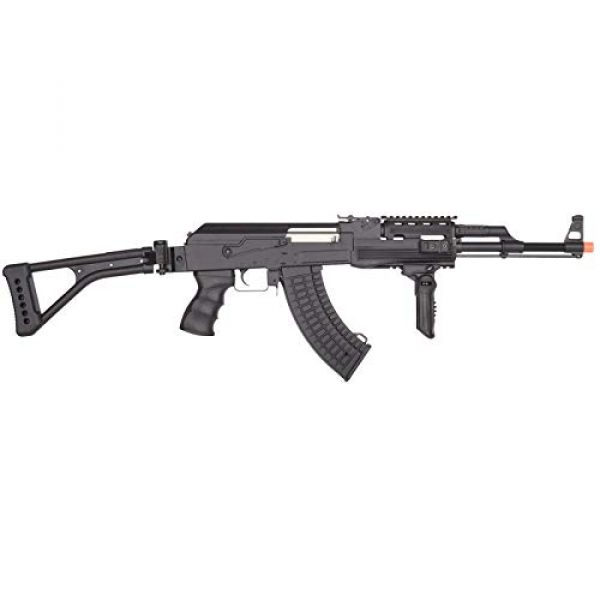 Lancer Tactical Airsoft Rifle 2 Lancer Tactical LT-728U AEG Airsoft Rifle with Folding Stock with Battery and Charger Black