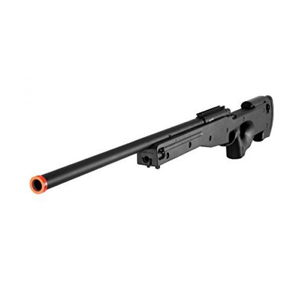 AGM Airsoft Rifle 2 AGM L96 Bolt Action Spring Sniper Airsoft Rifle Gun FPS 465 (Black)