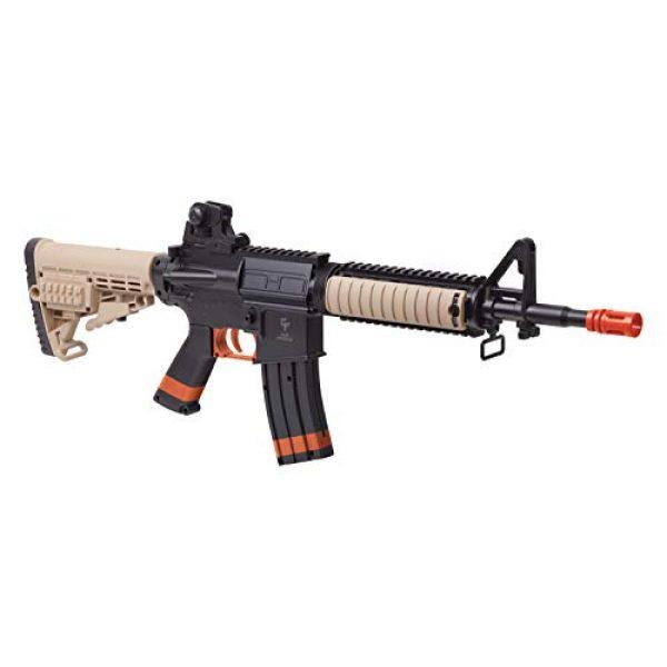 Game Face Airsoft Rifle 1 GameFace GFR37-CA Elite Renegade Spring-Powered Single-Shot Airsoft Rifle, Dark Earth/Black - California Compliant