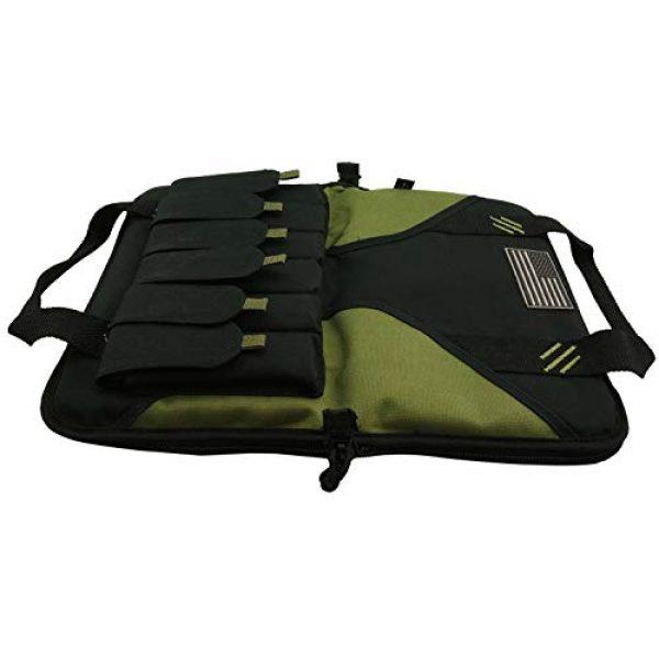 K-Cliffs Pistol Case 7 K-Cliffs Pistol Case Lockable Memory Foam Handgun Storage Pouch Carrying Bag   6 Magazine Pockets Black/Olive