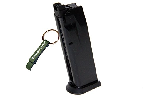WE  1 WE 26rds Airsoft Gas Magazine For F228 / F229 Series GBB Black -Mobile Ring Included