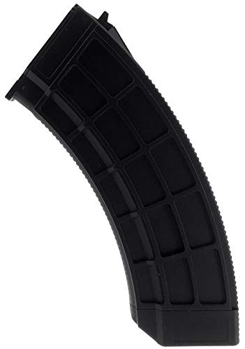 SportPro  1 SportPro 130 Round Polymer Thermold Waffle Medium Capacity Magazine for AEG AK47 AK74 Airsoft - Black