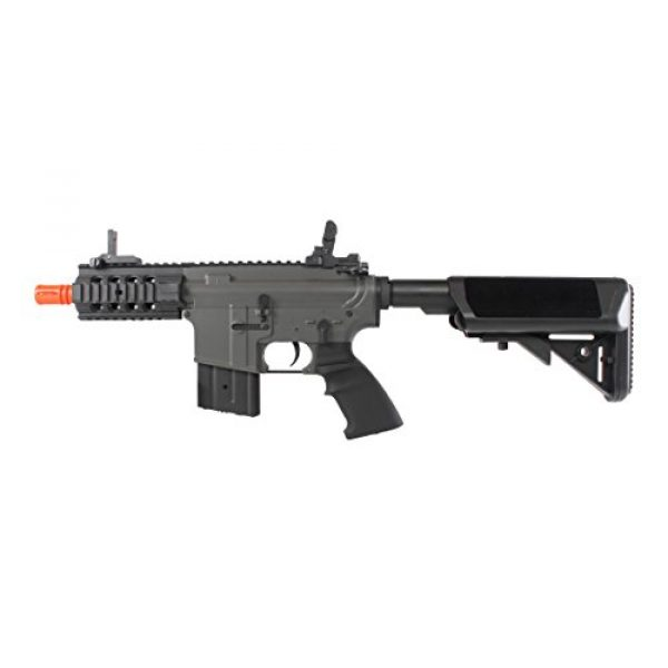 MetalTac Airsoft Rifle 3 MetalTac Electric Airsoft Gun M4 Stubby CQB JG-F6632 with Rail Mounting System, Metal Gearbox Version 2, Full Auto AEG, Upgraded Powerful Spring 380 Fps with .20g BBS