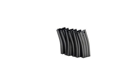 ICS  1 ICS M4 s Metal 45 Rd Capacity Airsoft Magazine - 6 Pack - Black