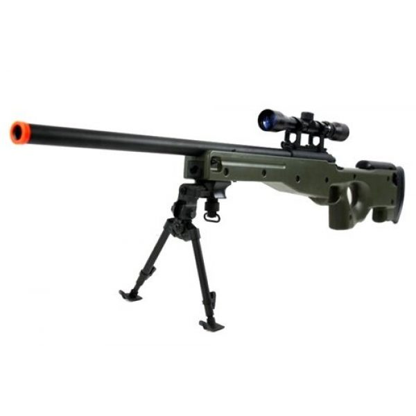 BBTac Airsoft Rifle 1 BBTac BT-96 Bolt Action Sniper Rifle w/ 3-9x Scope and Bipod - OD GREEN
