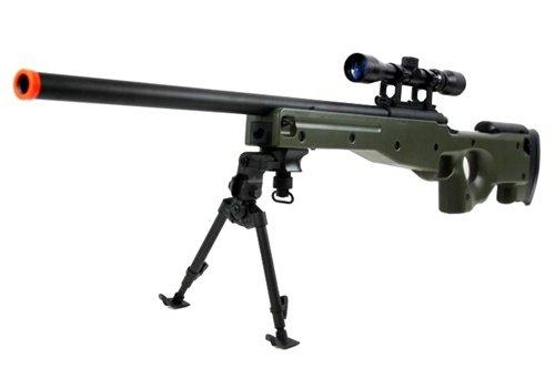 BBTac  1 BBTac BT-96 Bolt Action Sniper Rifle w/ 3-9x Scope and Bipod - OD GREEN