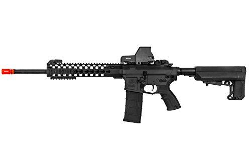 "Lancer Tactical  1 Lancer Tactical M4 Advance Recon Carbine 16"" AEG Airsoft Gun (Black)"