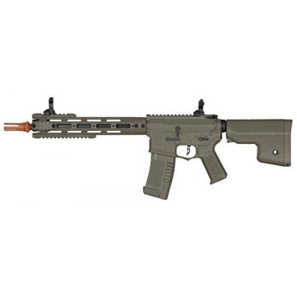 Elite Force Airsoft Rifle 1 Elite Force Amoeba AM-009 AEG Powered Automatic 6mm BB Rifle Airsoft Gun, Dark Earth Brown, One Size (2264501)