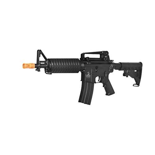 Lancer Tactical  2 lancer tactical lt-01bl electric airsoft gun fps-400 m4 commando full & semi auto v2 full metal gearbox(Airsoft Gun)