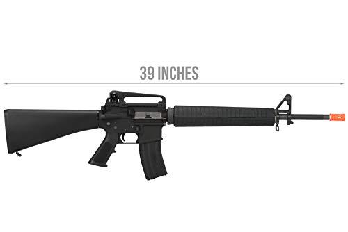 Lancer Tactical  2 Lancer Tactical WE M16A3 Open Bolt Full Metal Gas Blowback Airsoft GBBR Rifle Black