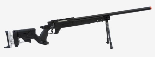 Well  1 Well sr pro bolt action sniper rifle w/ bipod black(Airsoft Gun)