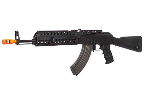 Lancer Tactical  3 Lancer Tactical LT104B AK47 Tactical Keymod Rifle Blowback AEG Airsoft Rifle by Lonex (Black)
