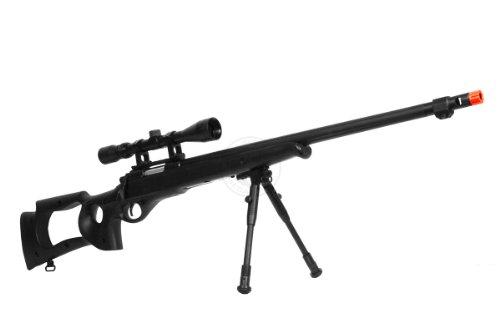 Well  2 wellfire mb10d bolt action sniper rifle w/ 3-9x40 scope and bipod(Airsoft Gun)