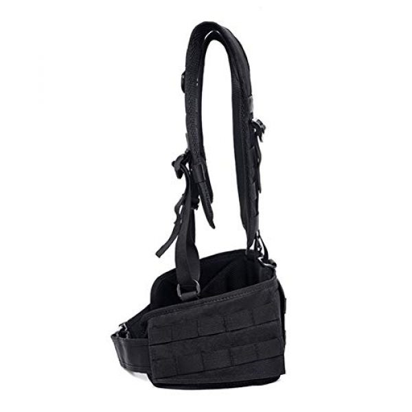 Shefure Airsoft Tactical Vest 5 Shefure Tactical H-Harness Waist Battle Belt Suspenders Hunting Molle Vest Chest Rig