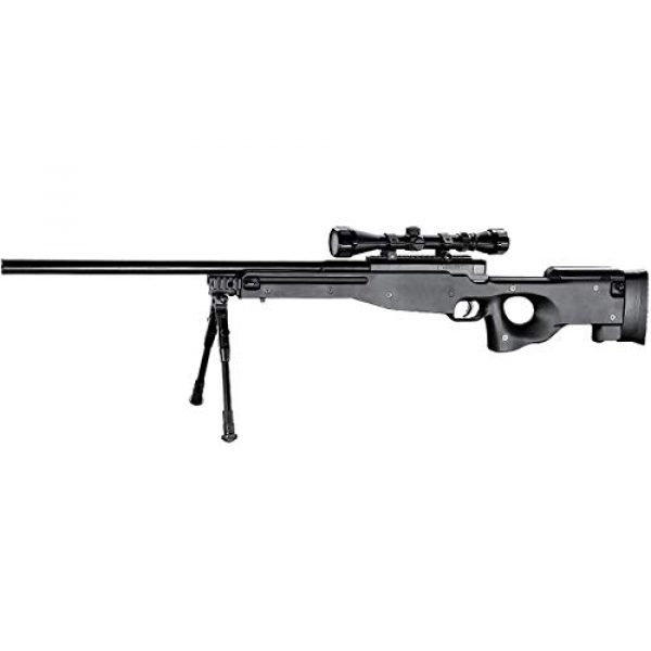 Well Airsoft Rifle 1 Well MB01 Airsoft Sniper Rifle W/Scope and Bipod - Black
