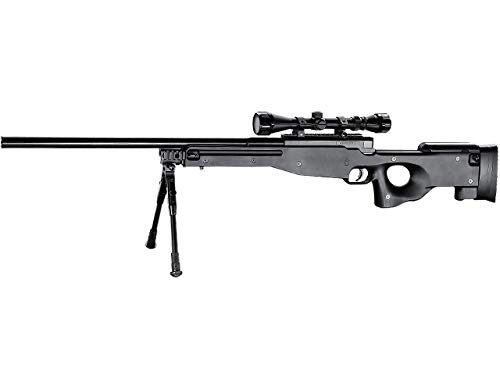 Well  1 Well MB01 Airsoft Sniper Rifle W/Scope and Bipod - Black
