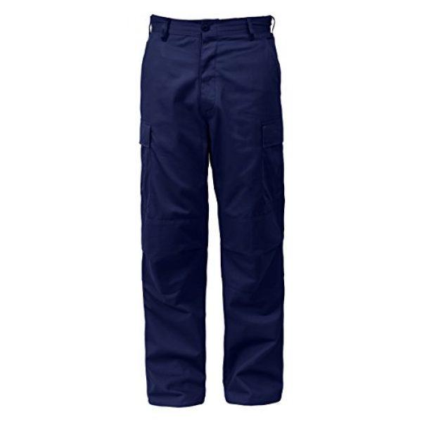 "Rothco Tactical Pant 4 Tactical BDU (Battle Dress Uniform) Military Cargo Pants, L (35""-39"" Waist), Midnight Navy Blue"