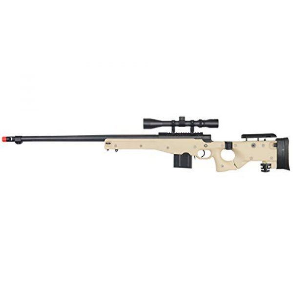 Well Airsoft Rifle 1 Well MB4403 Airsoft Sinper Rifle W/Scope - Tan