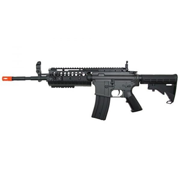 Jing Gong (JG) Airsoft Rifle 2 JG M4 RIS System with Rifle Scope Sniper Airsoft Gun 500 FPS