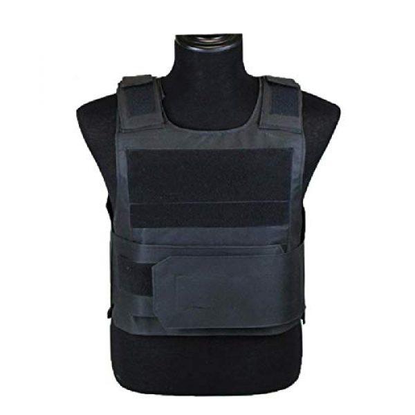 BGJ Airsoft Tactical Vest 2 BGJ Outdoor Tactical Vest Military Molle Armor Plate Waistcoat Airsoft Carrier Vest Camo Woodland Hunting Protection Combat CS Vest