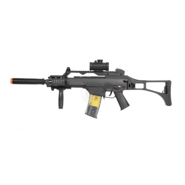 TAC Airsoft Rifle 3 DE R36C TacSpec Electric AEG Rifle w/Flashlight and Red Dot Scope