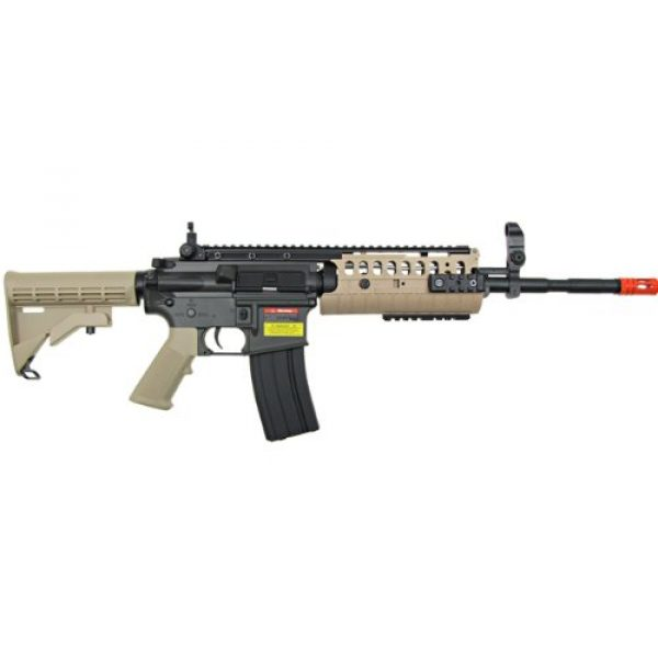 Jing Gong (JG) Airsoft Rifle 2 JG airsoft m4 s-system full metal gearbox desert tan aeg rifle w/ integrated ris and high performance tight bore barrel - newest enhanced model(Airsoft Gun)