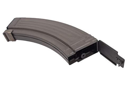 LONEX  3 AIRSOFT AK LONEX FLASH METAL BLACK PULL CORD MAGAZINE MAG 520 RDS AK47 ASG @ HELMET WORLD