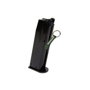 KJW Airsoft Gun Magazine 1 KJ Works 24rds Airsoft Metal 6mm Gas Magazine For P226 KP01 E2 GBB -Mobile Ring Included