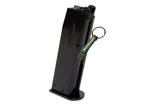 KJW  1 KJ Works 24rds Airsoft Metal 6mm Gas Magazine For P226 KP01 E2 GBB -Mobile Ring Included