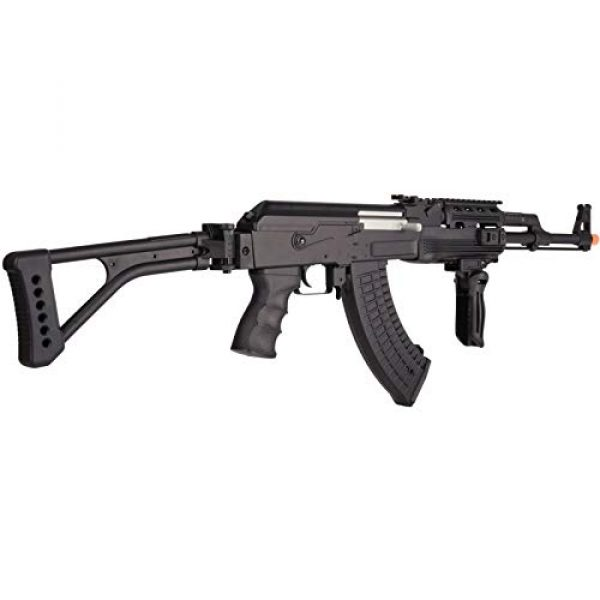 Lancer Tactical Airsoft Rifle 5 Lancer Tactical LT-728U AEG Airsoft Rifle with Folding Stock with Battery and Charger Black