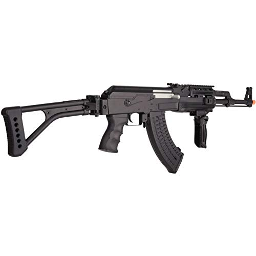 Lancer Tactical  5 Lancer Tactical LT-728U AEG Airsoft Rifle with Folding Stock with Battery and Charger Black