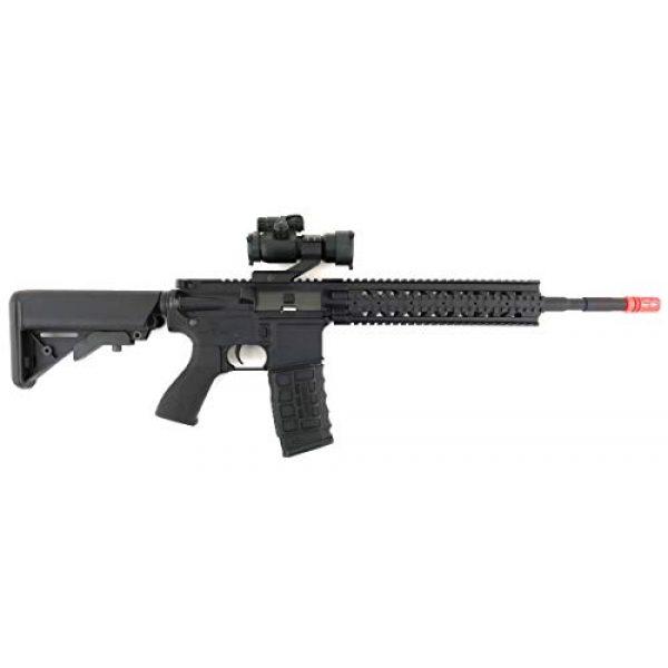 G&G Airsoft Rifle 3 G&G CM16 R8-L Combat Machine M4 AEG Airsoft Gun (Black) w/Red Dot Sight (Combo)