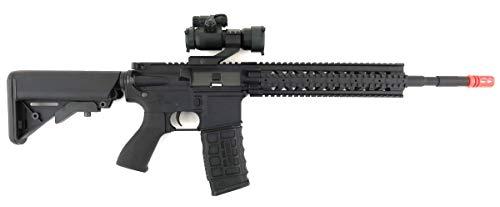 G&G  3 G&G CM16 R8-L Combat Machine M4 AEG Airsoft Gun (Black) w/Red Dot Sight (Combo)