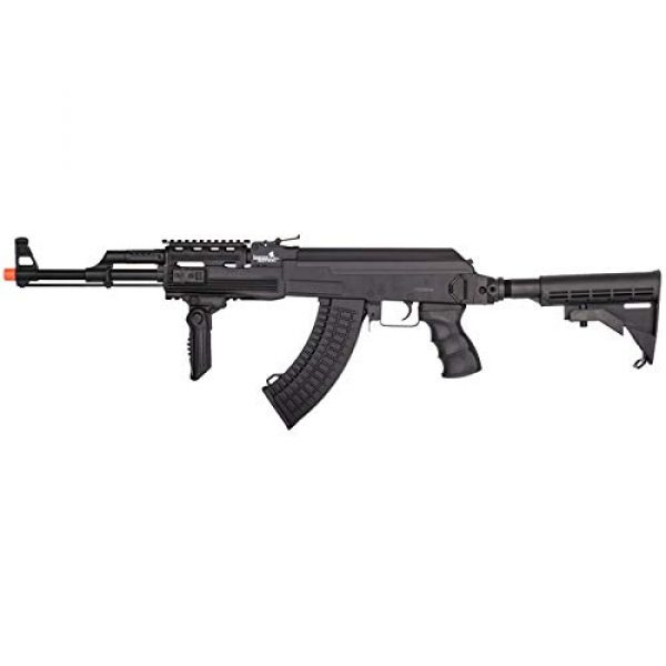 Lancer Tactical Airsoft Rifle 1 Lancer Tactical 47 LT-728C AEG Airsoft Rifle with Retractable Stock Black