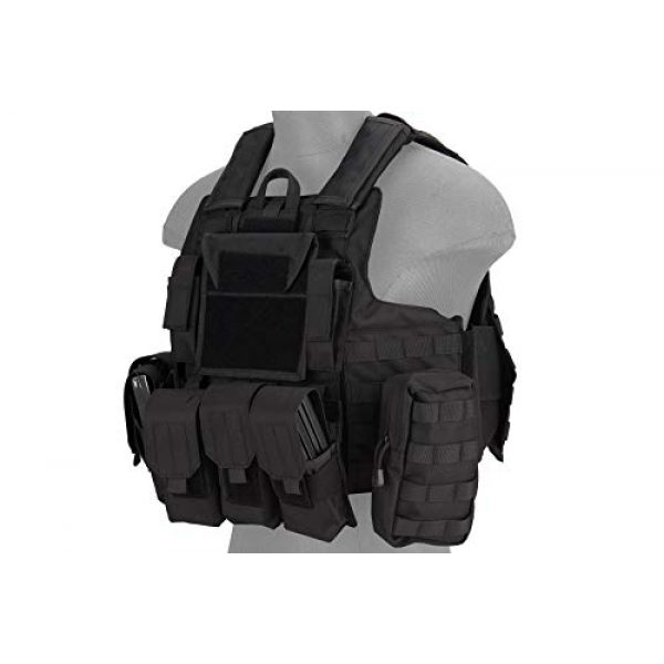 Lancer Tactical Airsoft Tactical Vest 1 Lancer Tactical 1000D Nylon Airsoft Combat Training Tactical Strike Assault Vest Black Adjustable