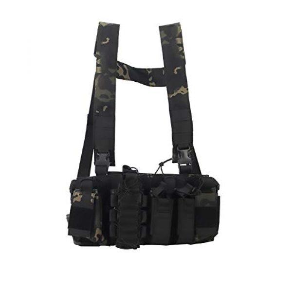 WEQ Airsoft Tactical Vest 1 WEQ Multifunctional Tactical Vest Outdoor Equipment Tactical Chest Hanging Combat Training Vest (Color : #D)
