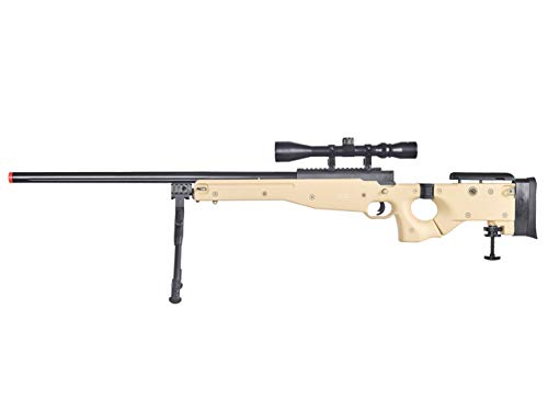 Well Airsoft Rifle 1 Well MB08 Airsoft Sniper Rifle W/Scope and Bipod - Tan