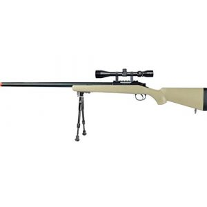Well Airsoft Rifle 1 Well MB03 Airsoft Sniper Rifle W/Scope and Bipod - Tan